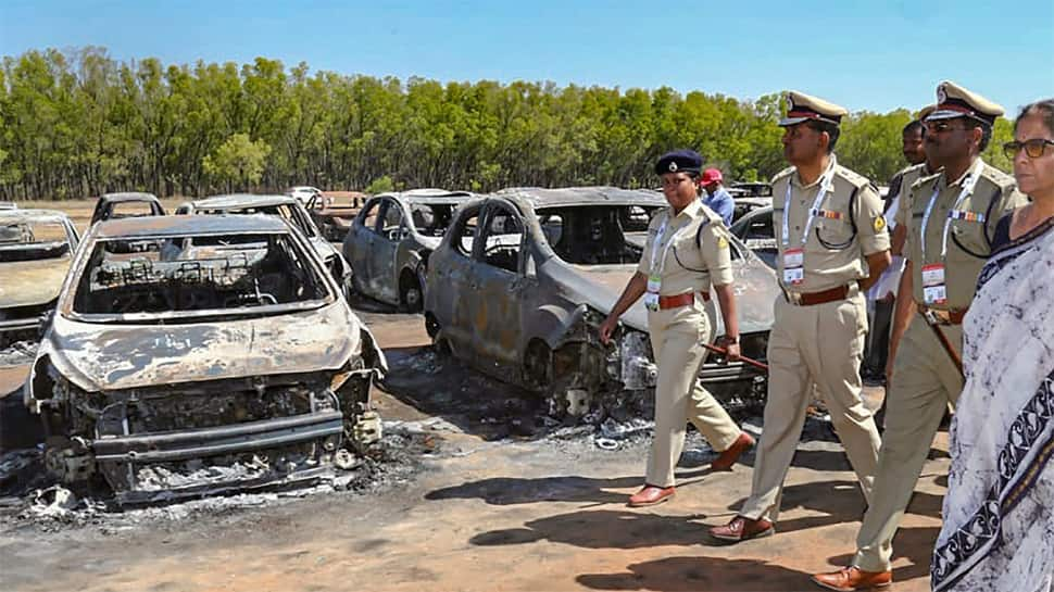 Overheated silencer of vehicle may have caused Aero India fire; Nirmala Sitharaman inspects site