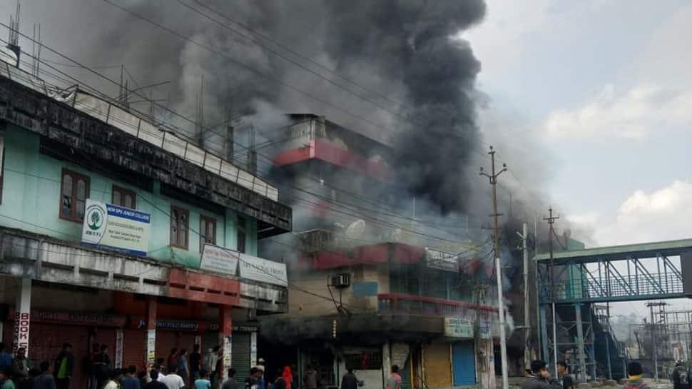 PRC row: Protesters set ablaze Deputy CM's residence, ransack DC's office in Arunachal Pradesh