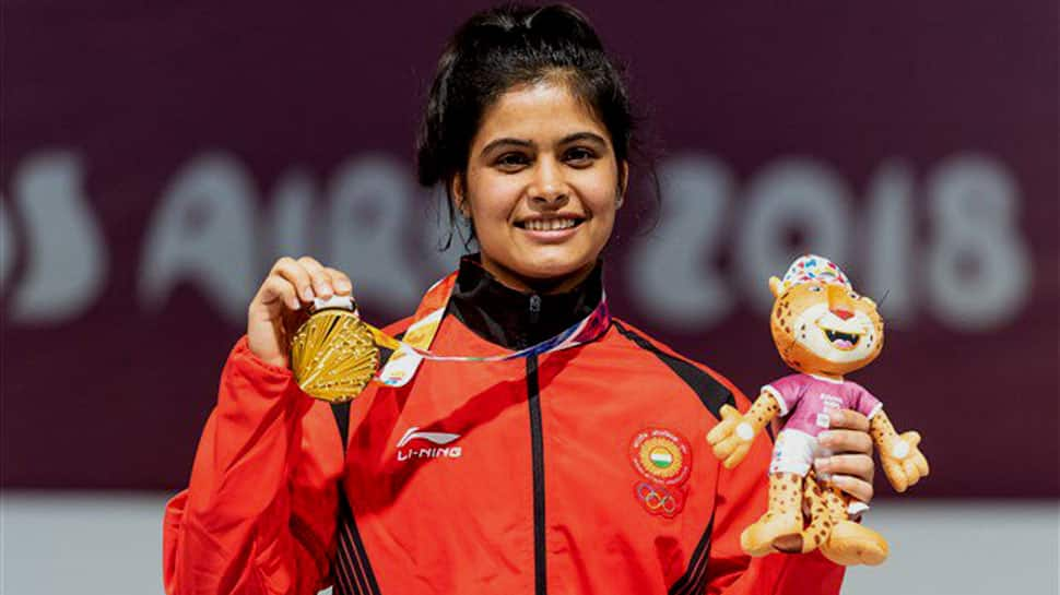 Manu Bhaker and Saurabh Chaudhary win gold in 10 m Air pistol mixed team event at ISSF World Cup 2019