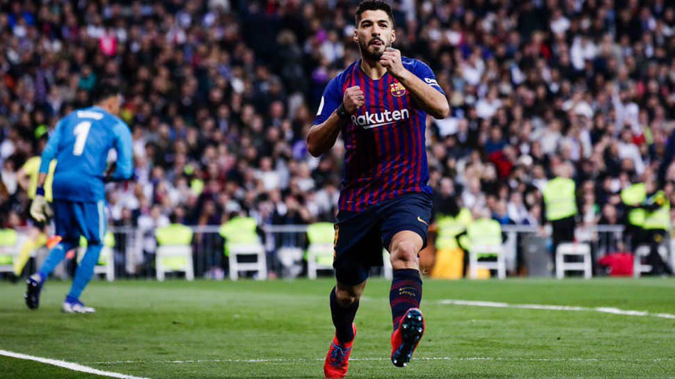 Luis Suarez double helps Barcelona triumph 3-0 against arch-rivals Real Madrid