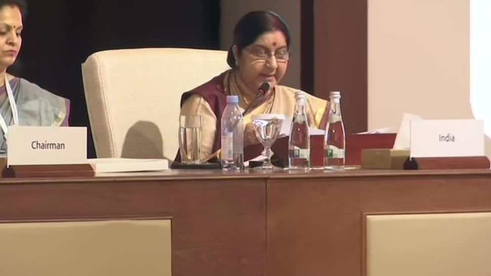 Sushma Swaraj addresses OIC meet, lays focus on terrorism; Pakistan chair remains empty