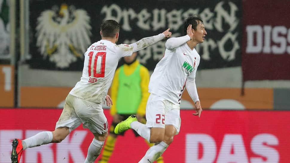 Bundesliga: Ji Dong-won strikes twice as Augsburg shock Borussia Dortmund