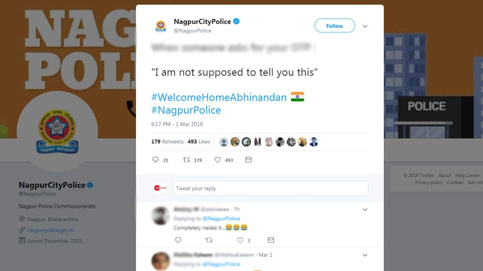 I'm not supposed to tell you this: Nagpur City Police uses Abhinandan's line to drive home a strong point