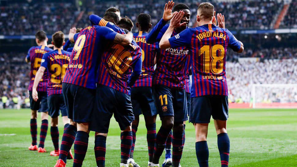 Barcelona hailed as champions-elect after defeating Real Madrid 1-0
