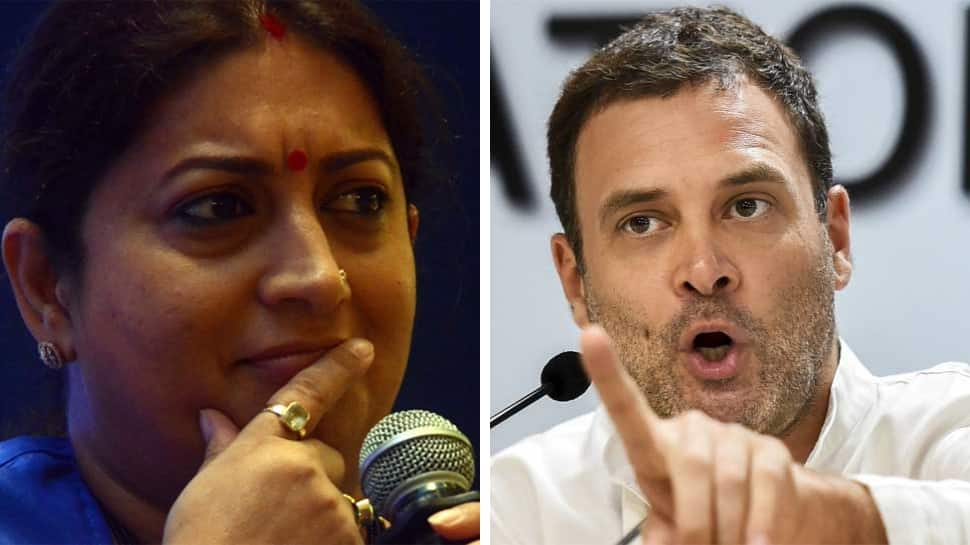 Rahul Gandhi scared of Amethi's development, says Smriti Irani; slams Congress chief for saying PM Modi 'lied'