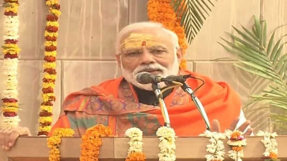 PM Narendra Modi arrives in Varanasi, lays foundation stone of Kashi Vishwanath Temple Corridor