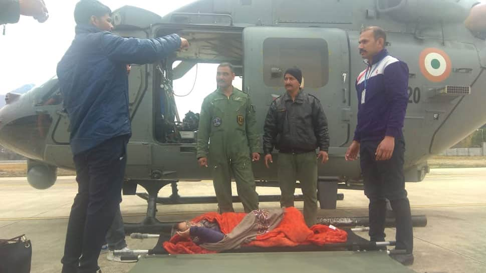 Cold waves continue to sweep Himachal Pradesh; IAF airlifts over 50 people from Lahaul-Spiti