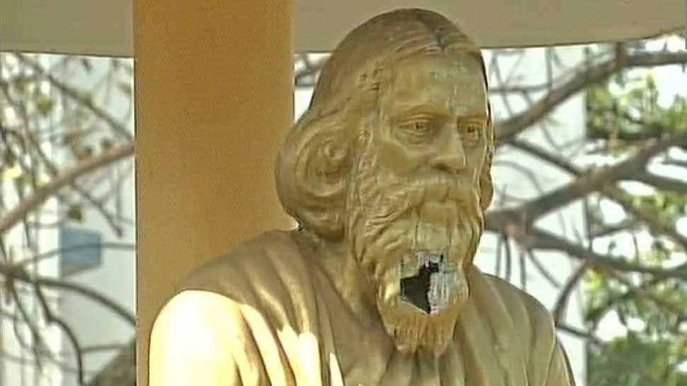 Rabindranath Tagore's statue vandalised in West Bengal
