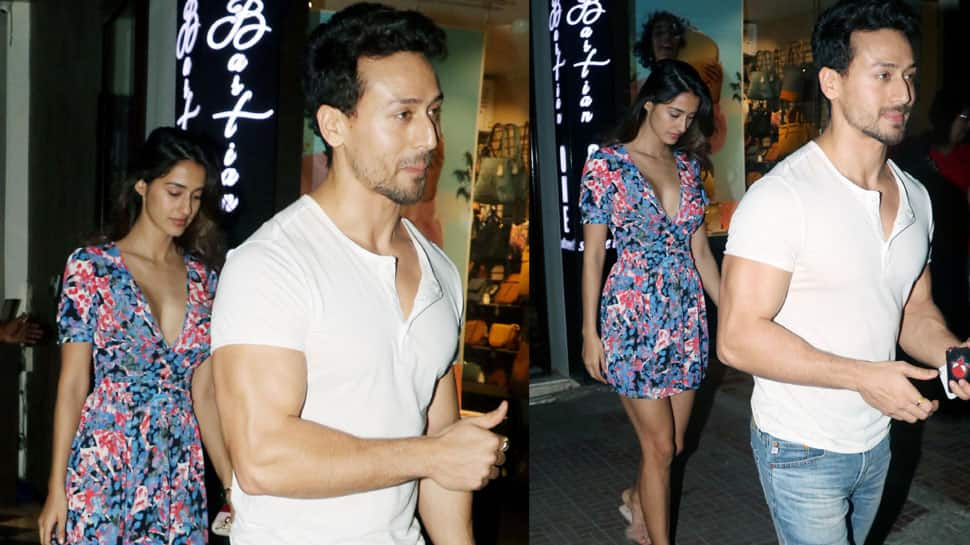 Disha Patani's floral skater dress on dinner date with Tiger Shroff gives major summer vibes—See pics