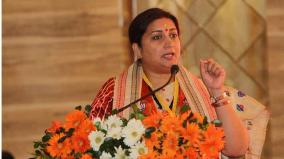 Smriti Irani questions Gandhi family's link to Rafale deal, land scam cases