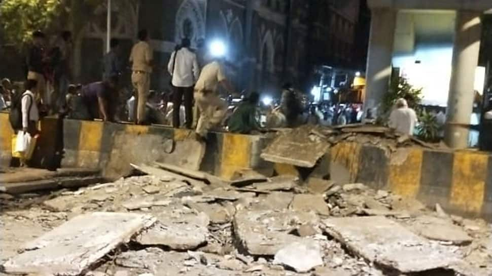 Five injured as footover bridge collapses in Mumbai