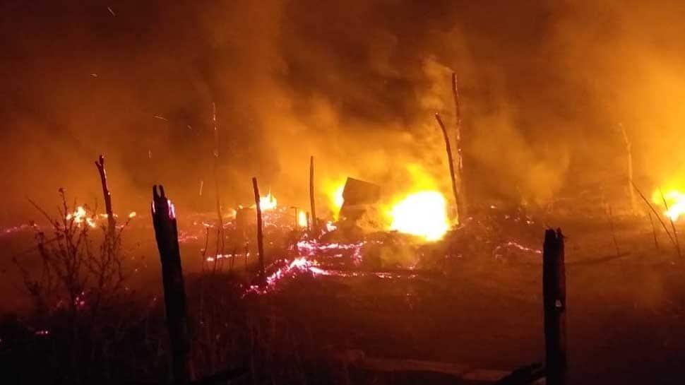 Five huts gutted in Karnataka fire