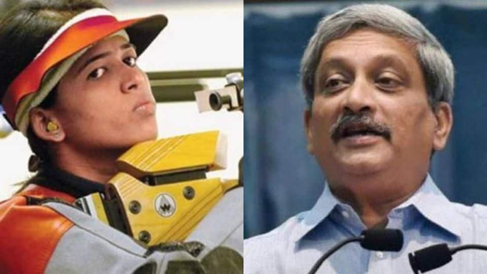 When Goa CM Manohar Parrikar extended financial help to shooter Tejaswini Sawant