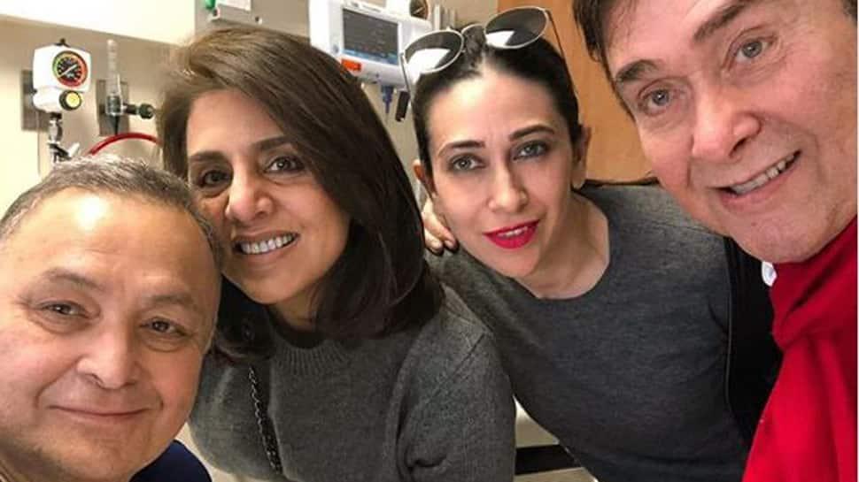 Karisma Kapoor-Randhir Kapoor visit Rishi Kapoor in New York, Neetu shares pic-See inside
