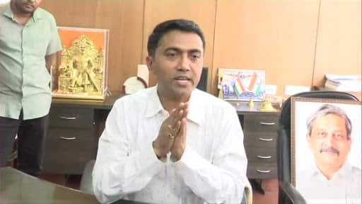 Pramod Sawant takes charge as Goa CM; floor test on Wednesday