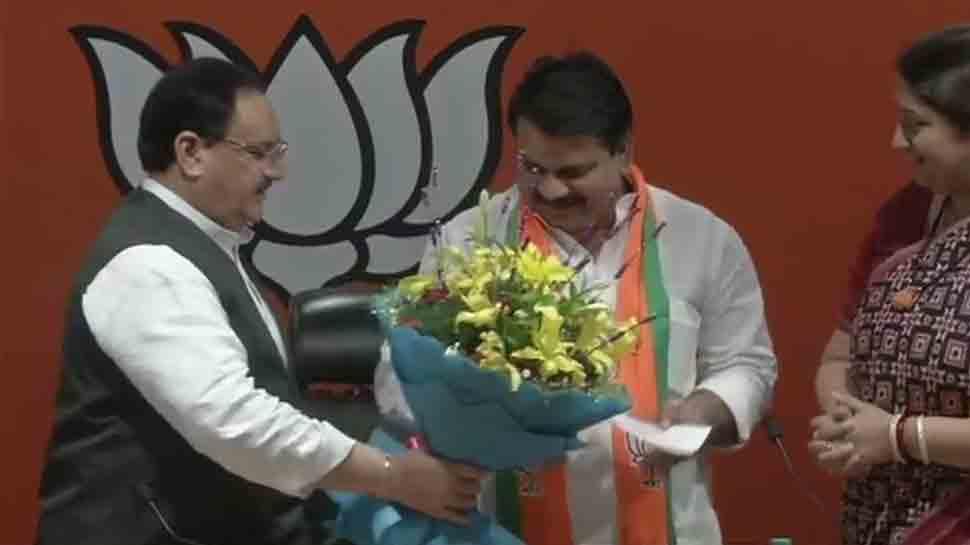 BSP leader from Amethi Chandra Prakash Mishra joins BJP