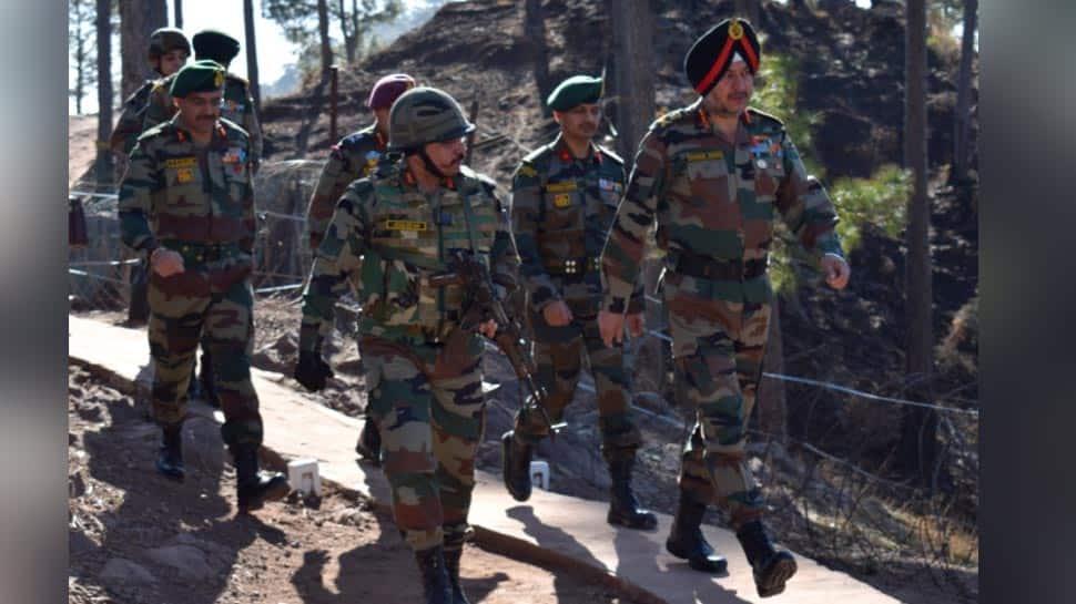 Army Commander Lieutenant General Ranbir Singh reviews security situation at forward locations in Rajouri, Reasi Sectors