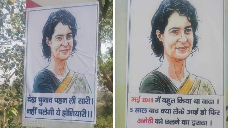 As Priyanka Gandhi Vadra heads to Amethi, posters calling her a 'fraud' cover the city