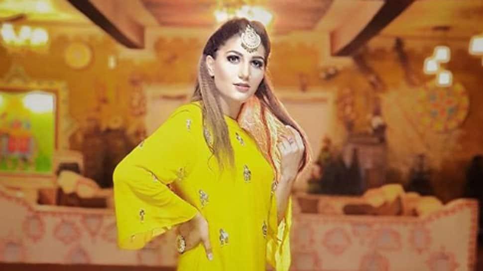 Sapna Choudhary looks her stylish best in a lycra ruffle drape saree—See pics