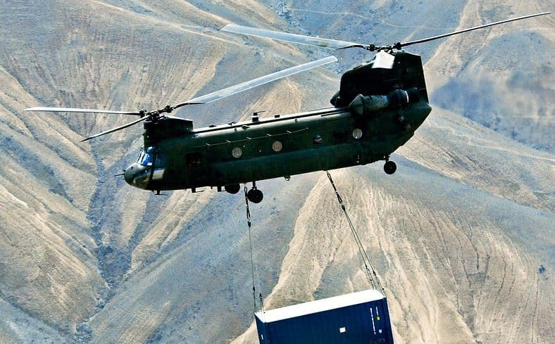 IAF Chinook CH-47F helicopter takes off with the music of URI - The Surgical Strike