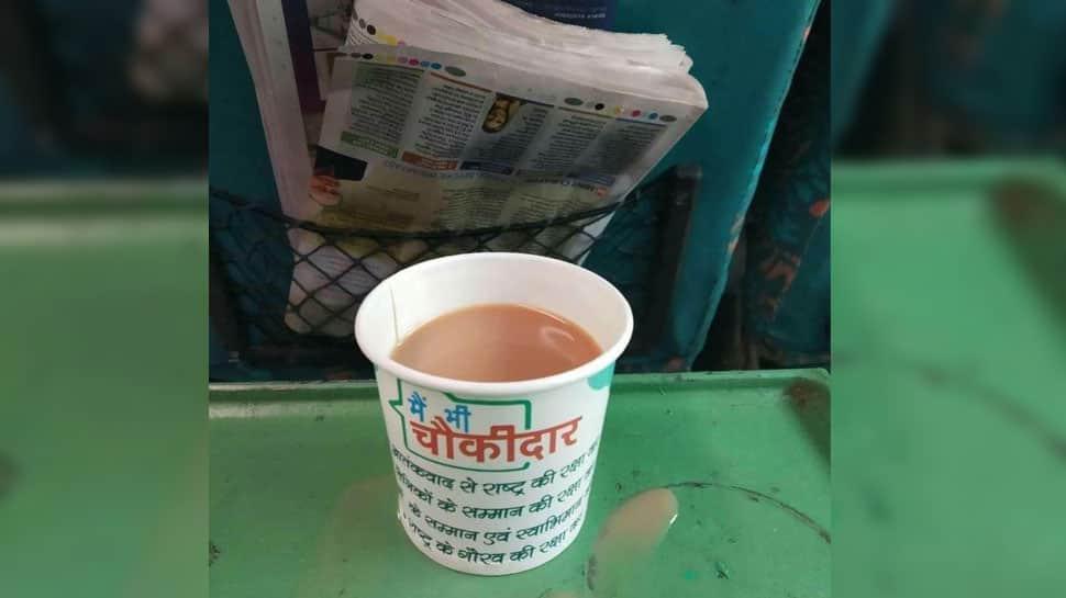 IRCTC to probe tea served in cups with 'main bhi chowkidaar' slogan