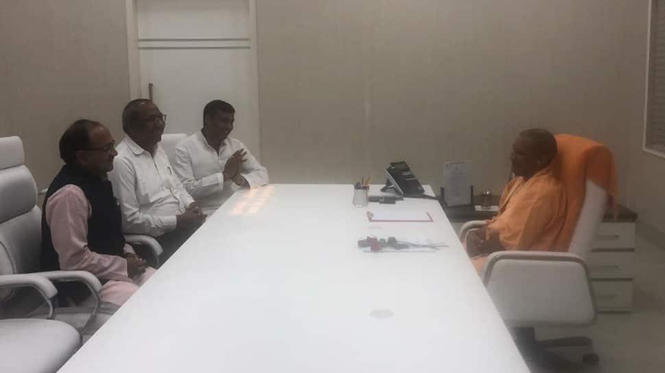 Nishad Party quits 'Mahagathbandhan' in UP; its leaders meet CM Yogi Adityanath