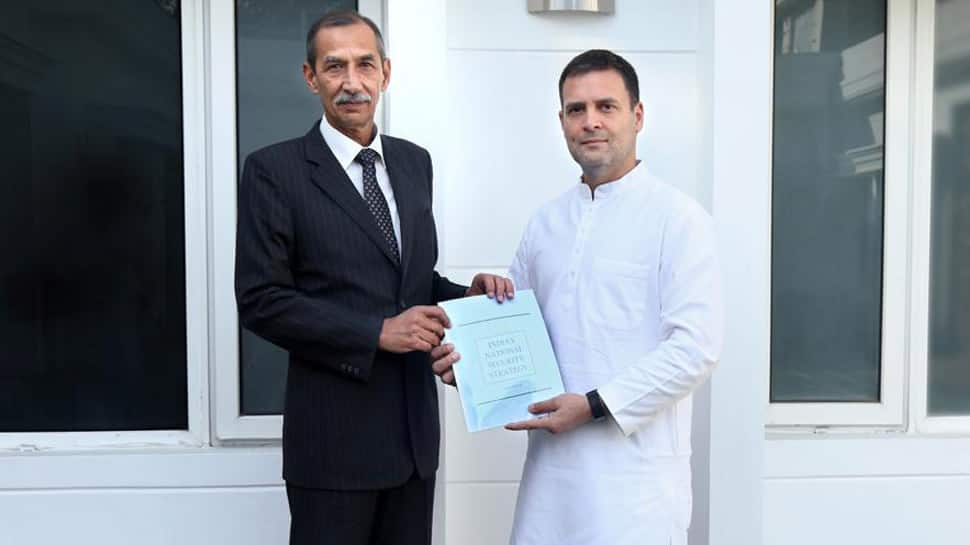 Surgical strike architect Lt Gen DS Hooda submits report on National Security to Rahul Gandhi