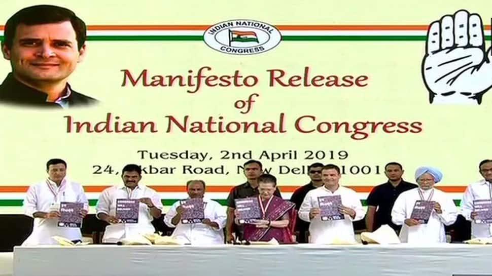 Congress releases manifesto for 2019 Lok Sabha election, lays thrust on farmer welfare