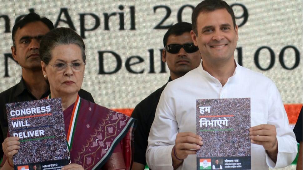 Sonia Gandhi upset with design of Congress manifesto's cover page