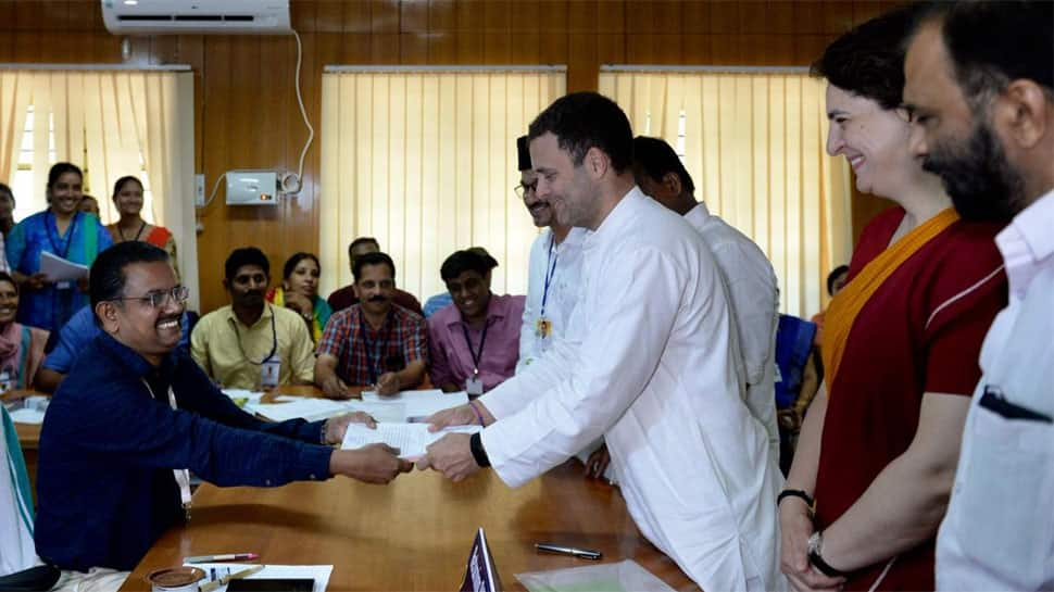 Congress chief Rahul Gandhi files nomination from Kerala's Wayanad, holds roadshow afterwards