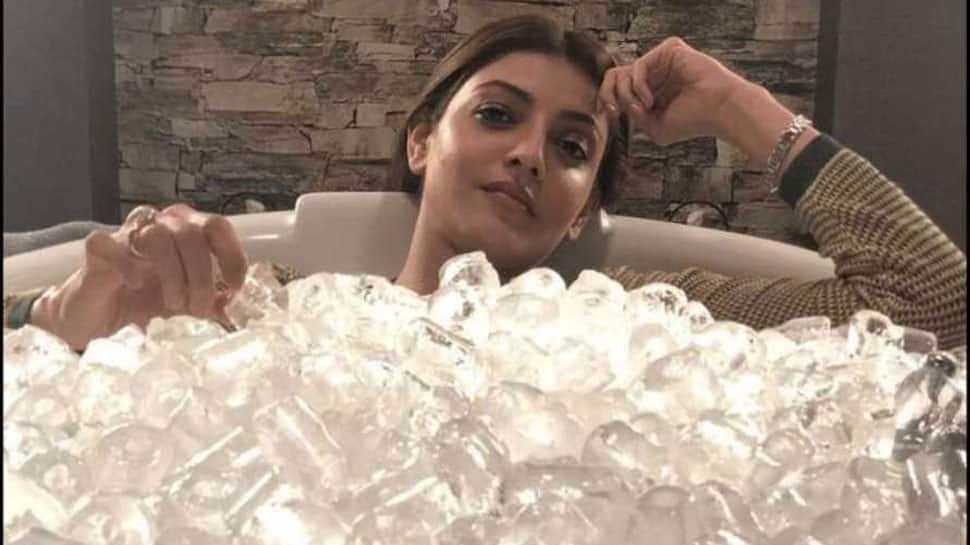 Kajal Aggarwal beats the heat on the sets of 'Sita'—See pic