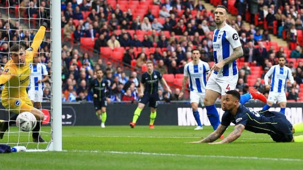 Quadruple still on as Gabriel Jesus heads Manchester City into FA Cup final