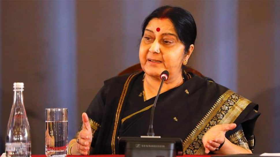 If terrorism is not a poll issue, then Rahul Gandhi should give up SPG security: Sushma Swaraj
