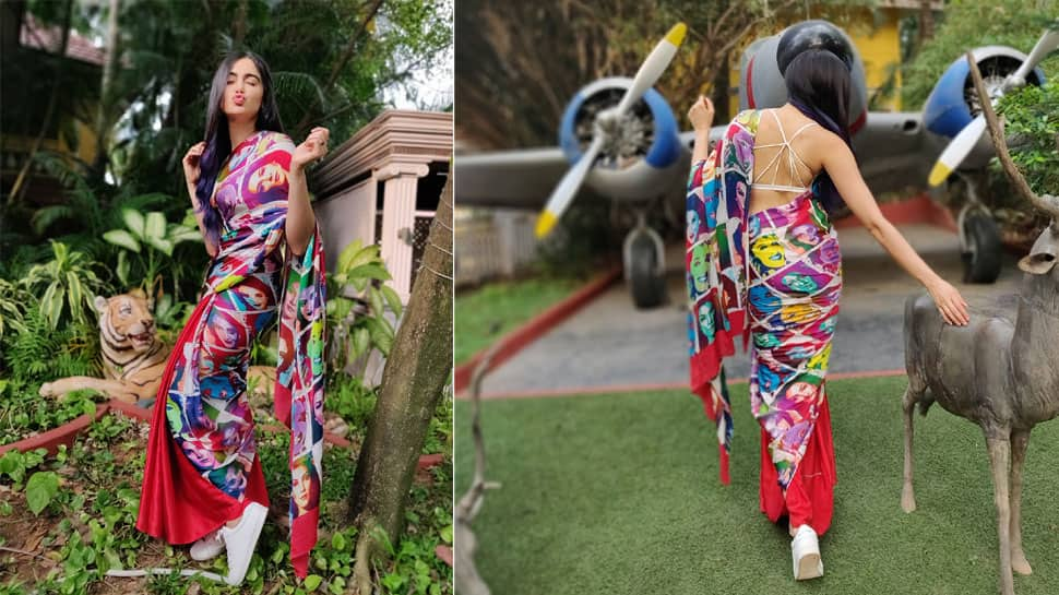 Adah Sharma dons a quirky saree with white sneakers, pics go viral—See inside