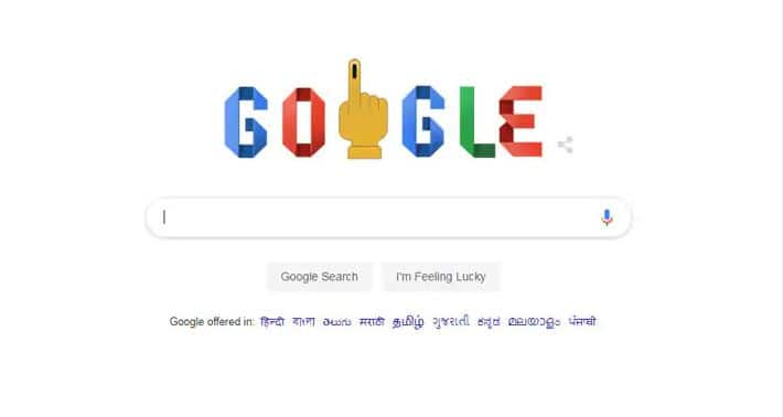 Google marks beginning of Lok Sabha poll with a doodle