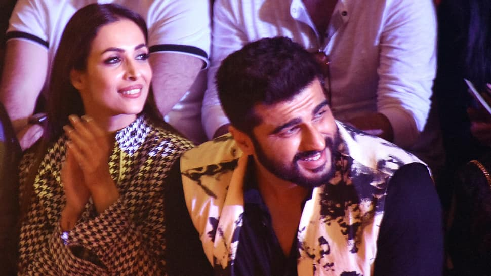 Malaika Arora-Arjun Kapoor arrive together at Chunky Pandey's party, go twinning in blue—See pics