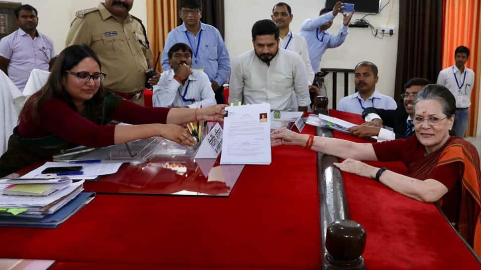 Rahul, Priyanka by her side, Sonia Gandhi files nomination papers from Rae Bareli Lok Sabha seat