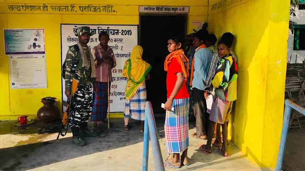 Snub to Naxals, Shamgiri in Bastar registers 77 per cent voting