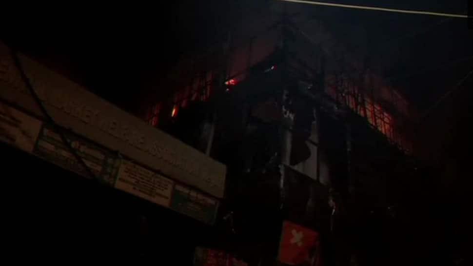 Delhi: Fire breaks out at apparel showroom in Uttam Nagar, rescue operations on