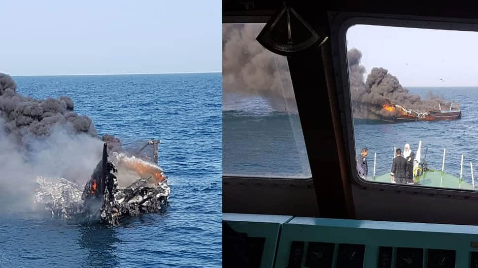 Coast Guard intercepts boat carrying 100 kg heroin, arrests nine Iranians off Gujarat coast