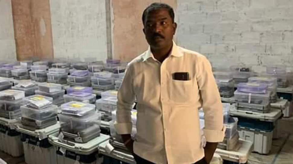 TRS polling agent arrested for clicking photo inside EVM strong room in Telangana