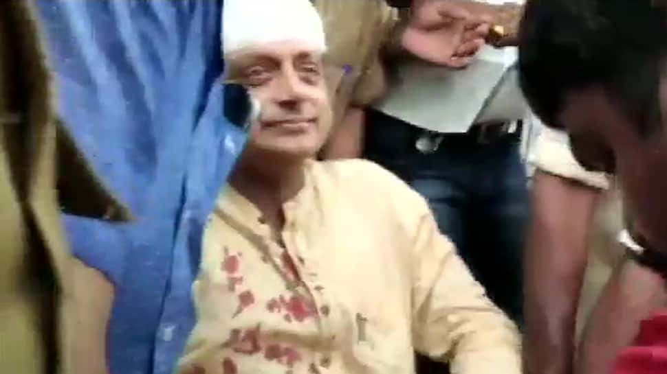 Shashi Tharoor injured while offering prayers at a Thiruvananthapuram temple, gets 6 stitches