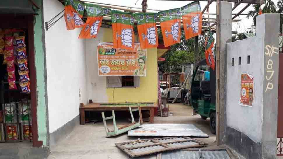 Miscreants vandalise three BJP booth offices in West Bengal's Siliguri