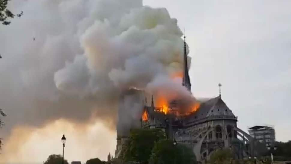 Fire breaks out at Paris' iconic Notre Dame cathedral