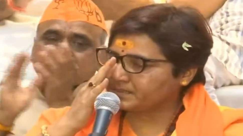 BJP's Sadhvi Pragya alleges police torture, breaks down during press conference