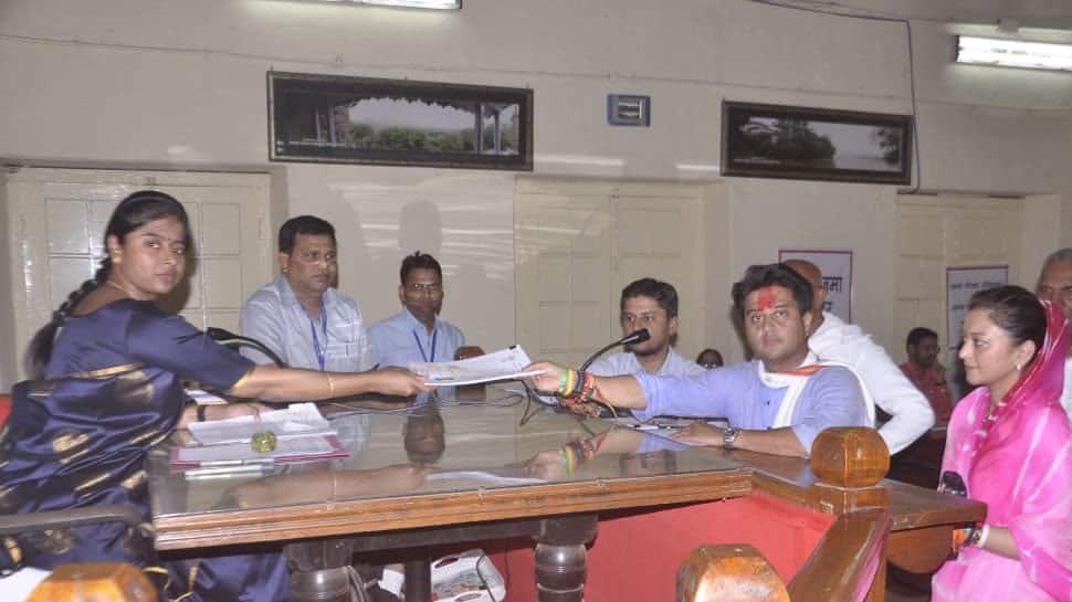 Congress leader Jyotiraditya Scindia files nomination from Guna Lok Sabha constituency