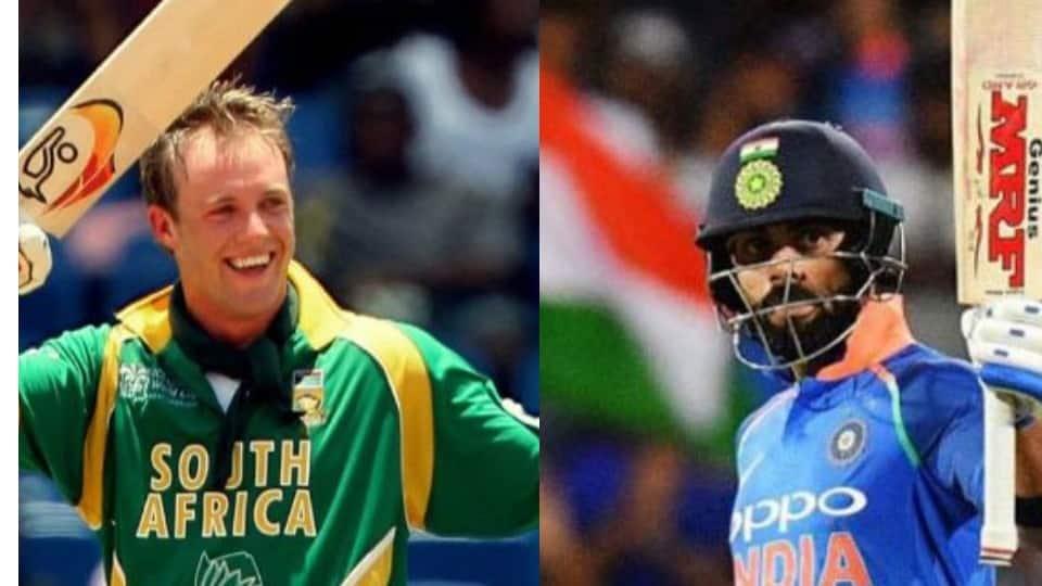 AB de Villiers has a new nickname for Virat Kohli