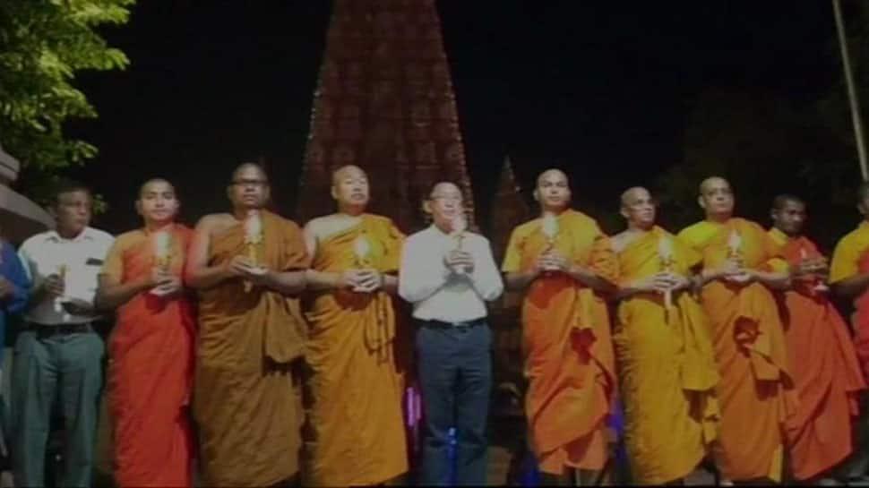 Buddhist monks in Bodh Gaya pray for Sri Lanka blasts victims