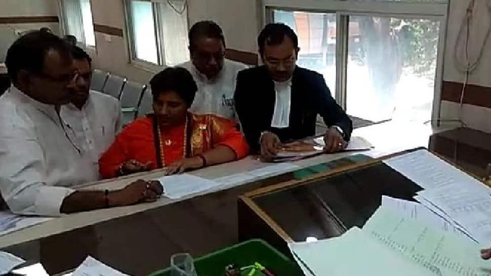 BJP's Sadhvi Pragya Singh Thakur files nomination from Bhopal