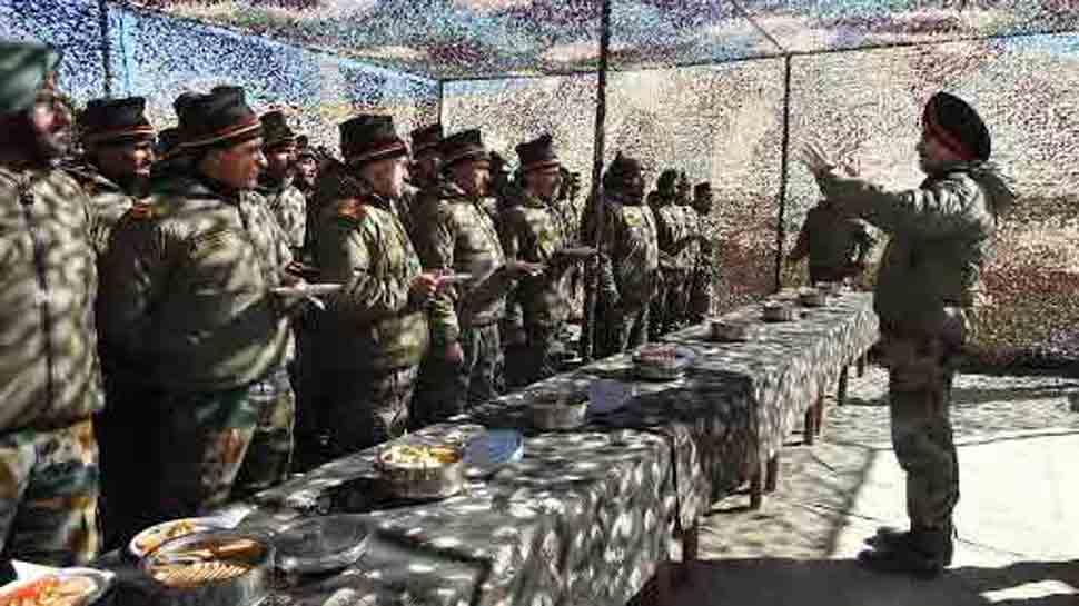 Lt General Ranbir Singh reviews security in Eastern Ladakh in Jammu and Kashmir